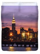 Sunset City Lights Duvet Cover