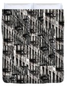 Nyc Fire Escapes Duvet Cover