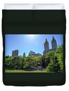 Nyc From Central Park Duvet Cover