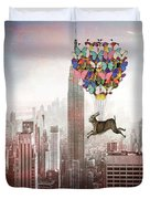 Nyc Hare Day Duvet Cover