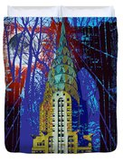 Nyc Icons Duvet Cover by Gary Grayson