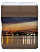 Nyc On A Still Night Duvet Cover