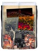 Nyc Papercut No.2 Duvet Cover