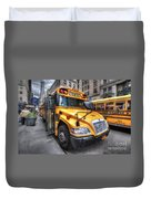 Nyc School Bus Duvet Cover