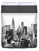 Nyc Snow Duvet Cover by Vivienne Gucwa