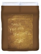 Nyc Street Art Quote Duvet Cover