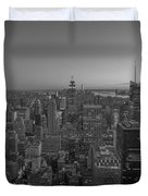 Nyc Sunset Bw Duvet Cover