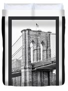 Nyc Three Bridges-east River Duvet Cover