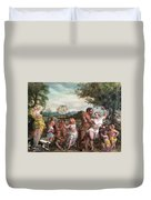 Nymphs And Satres Duvet Cover