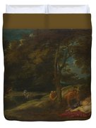 Nymphs Surprised By Satyrs Duvet Cover