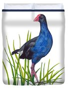Nz Native Pukeko Bird Duvet Cover