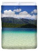 Oahu, Kaneohe Bay Duvet Cover