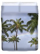 Oahu, Rainbow Duvet Cover