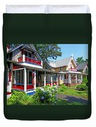 Oak Bluffs Gingerbread Cottages 1 Duvet Cover