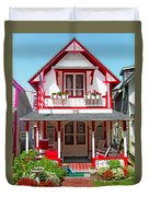 Oak Bluffs Gingerbread Cottages 2 Duvet Cover