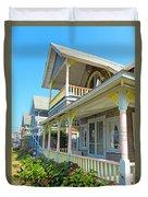 Oak Bluffs Gingerbread Cottages 5 Duvet Cover