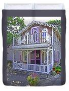 Oak Bluffs Gingerbread Cottages 7 Duvet Cover