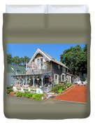 Oak Bluffs Gingerbread Cottages 8 Duvet Cover