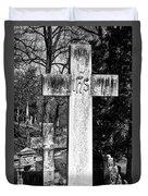 Oak Hill Cemetery Crosses #2 Duvet Cover