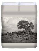 Oak In Rock Field Duvet Cover