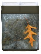 Oak Leaf In Ice  Duvet Cover