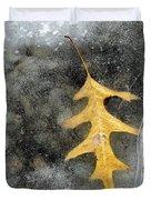 Oak Leaf In Ice Three  Duvet Cover