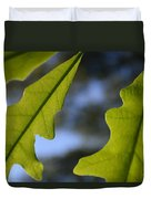 Oak Leaves Abstract Designed By Nature Duvet Cover