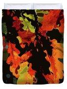 Oak Leaves In Autumn Duvet Cover