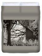 Oak Shadows On A Barn Duvet Cover