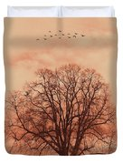 Oak Tree Alone  Duvet Cover