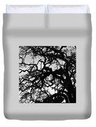 Oak Tree In Winter Detail - Amador County, California Duvet Cover