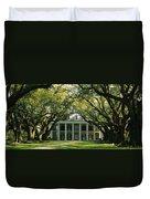 Oak Trees In Front Of A Mansion, Oak Duvet Cover