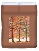 Oak Trees In The Park Duvet Cover