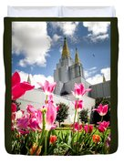 Oakland Pink Tulips Duvet Cover