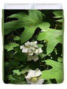 Oakleaf Hydrangea Floral Duvet Cover