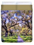 Oaks And Spanish Moss Duvet Cover