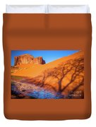 Oasis Tree Shadow Duvet Cover