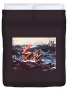 Obama At Sea Duvet Cover