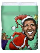 Obama Christmas Duvet Cover