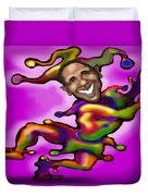 Obama Jester Duvet Cover