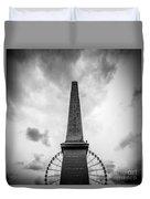 Obelisk And Big Wheel At Place De La Concorde, Paris Duvet Cover