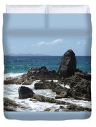 Obelisk In The Sea Duvet Cover