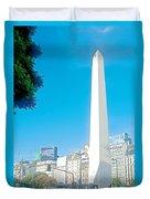 Obelisk On July Nine Avenue In Buenos Aires-argentina Duvet Cover