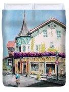 Oberammergau Street Duvet Cover