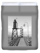 Obereversand Lighthouse - North Sea - Germany Duvet Cover