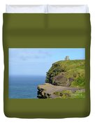 O'brien's Tower Along The Cliff's Of Moher In Ireland Duvet Cover