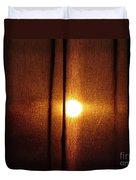 Obscured Sunset Duvet Cover