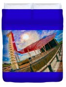 Observation Tower Circuit Of The Americas Duvet Cover
