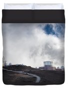 Observatories At The Summit Of Mount Haleakala Duvet Cover