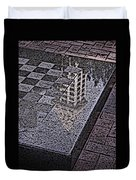 Occidental Park Checkerboard Duvet Cover